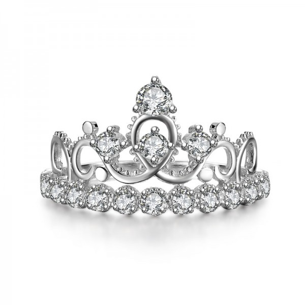 Fashion Queen 925 Sterling Silver Crown Ring