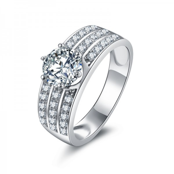 Personalized 925 Sterling Silver Wedding/Promise Ring