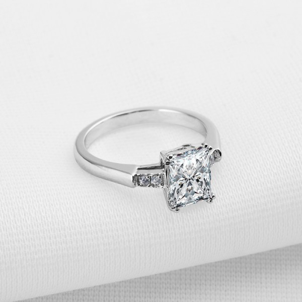 Simple Star 925 Sterling Silver Wedding/Promise Ring