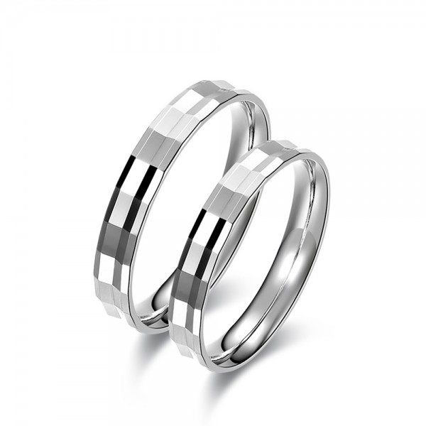 925 Silver Ring For Couples Simple Elegant and Fashion Style Polish and Cutting Craft
