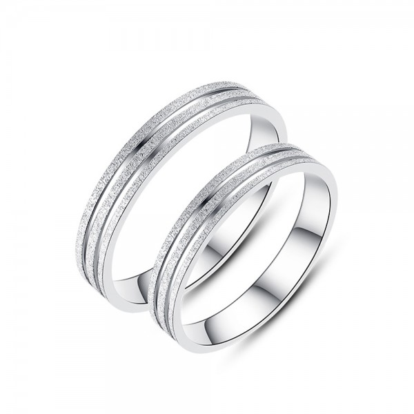 925 Silver Ring For Couples Original Design Simple and Fashion Style