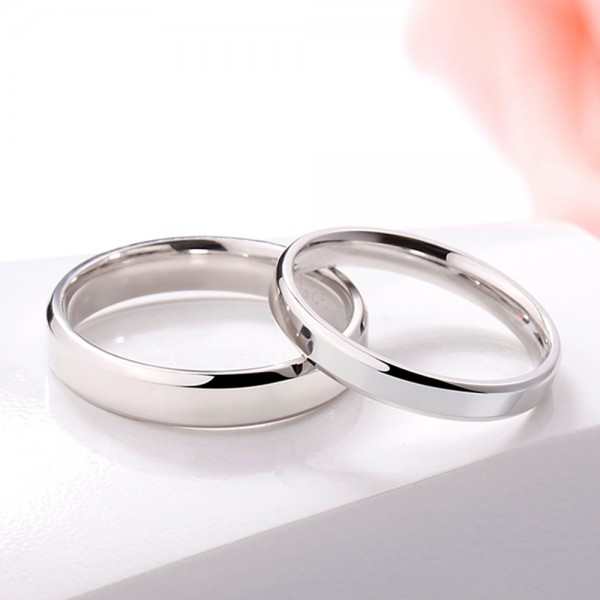 925 Sterling Silver Ring For Couples Simple and Liberality Craft Polish Craft