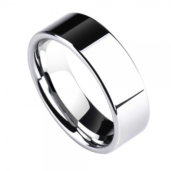 Tungsten Men's Ring Simple and Fashion Style Mirror Polish Craft Smoothness
