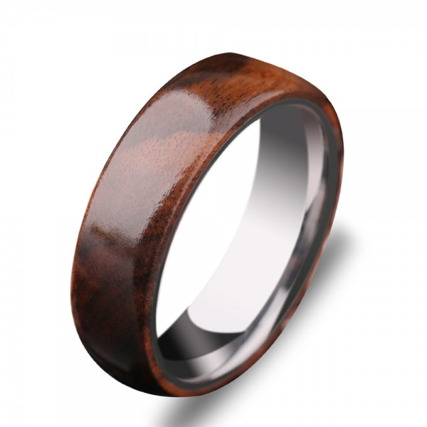 Tungsten Men's Ring Accessorized Ebony Quaint and Elegant Style Polish Craft