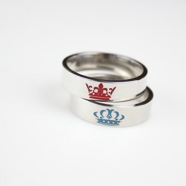 King Queen Rings His And Hers Promise Rings For Couples
