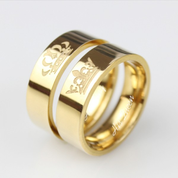 King Queen Ring Titanium His Queen Her King Ring For Couple
