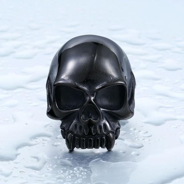 Titanium Steel Men's Pointed Tooth Skull Ring