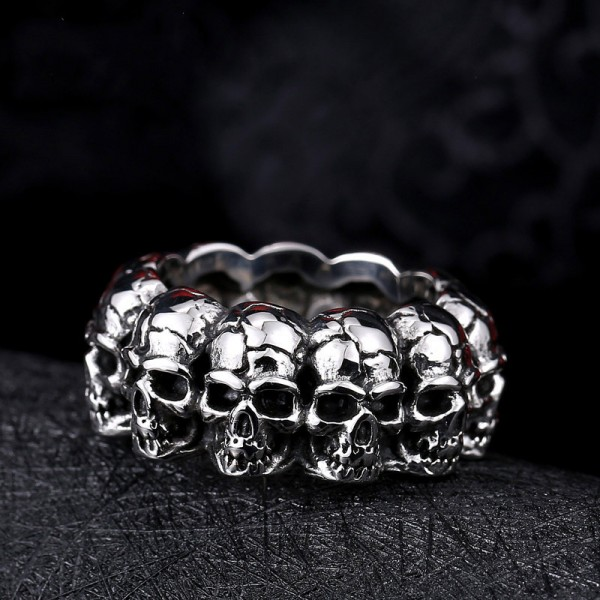 Hot sale Men's punk style skull ring