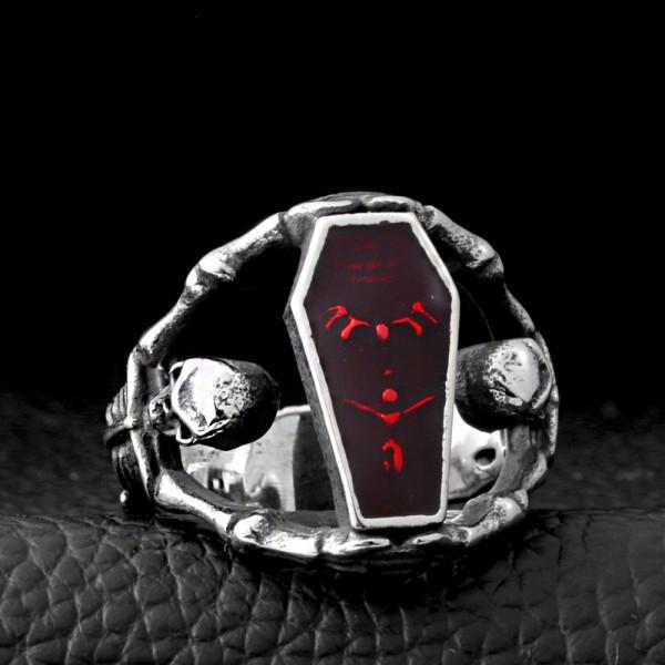 men's vampire coffin rings