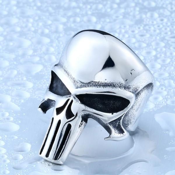 Men's Titanium Steel Punisher Ring