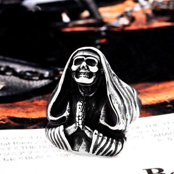 Titanium Steel Death Priest ring