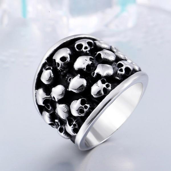 Men's Titanium Steel Death Skull Ring