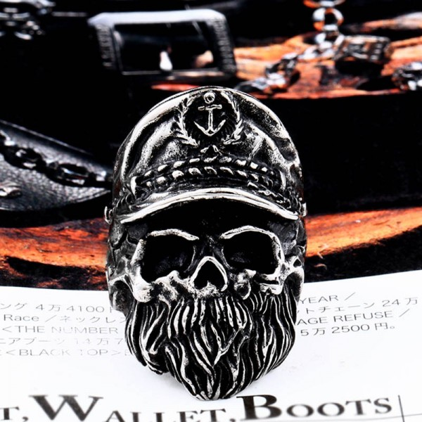Titanium Steel Viking skull ring