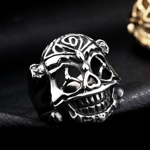 The Expendables Stallone Lucky Skull Ring