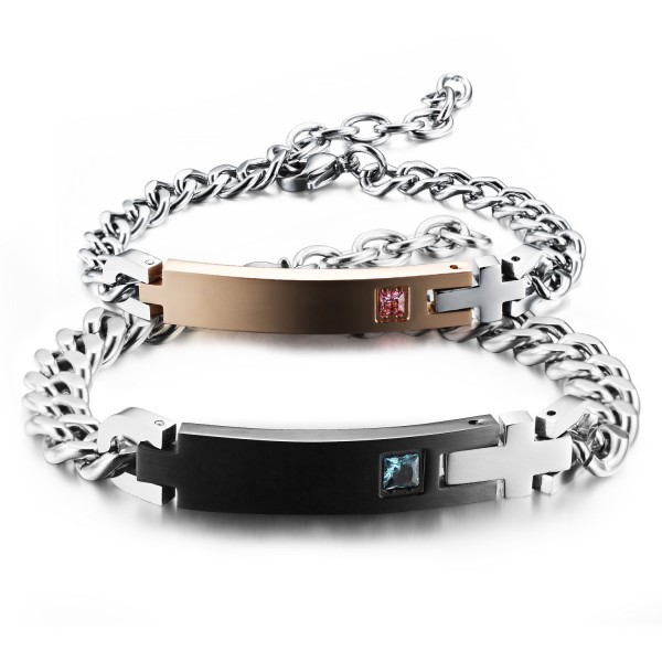 Titanium Steel Lovers Bracelets Popular Valentine's Day Gift Personality Bracelets
