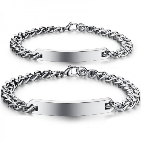 Fashion Titanium Steel Original Design Lovers Bracelets