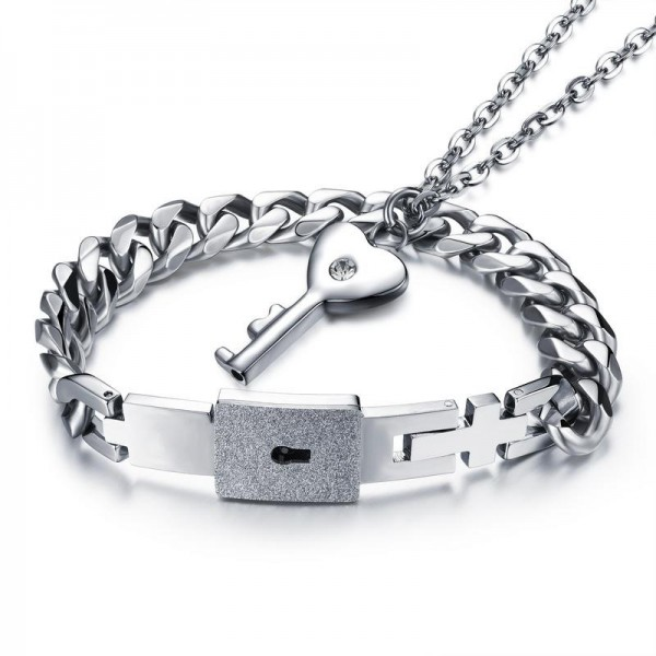 Original Design Jewelry Titanium Key/Lock Lovers Bracelets