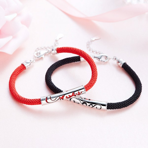 2018 New Fashion S925 Sterling Silver Hollow Lovers Bracelets