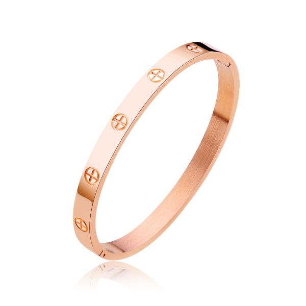Hot Selling Titanium Steel Rose Gold Lovers Bracelets