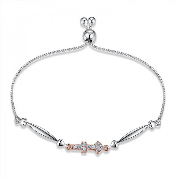 Hot Selling Twelve Constellation Sagittarius Style S925 Sterling Silver Inlaid Cubic Zirconia Bracelet