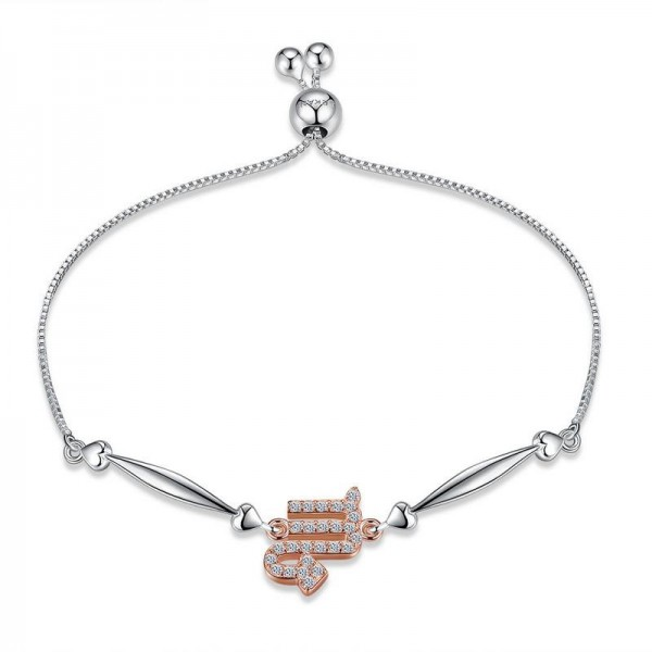 Hot Selling Twelve Constellation Scorpio Style S925 Sterling Silver Inlaid Cubic Zirconia Bracelet