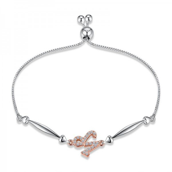 Hot Selling Twelve Constellation Capricorn Style S925 Sterling Silver Inlaid Cubic Zirconia Bracelet