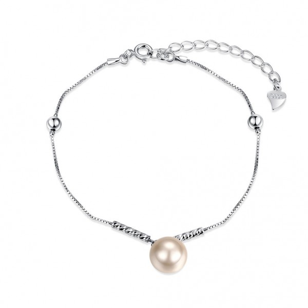 Charming Stylish S925 Sterling Silver Pearl Bracelet