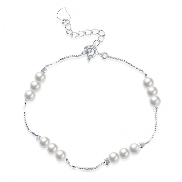Hot Selling S925 Sterling Silver Pearl Bracelet