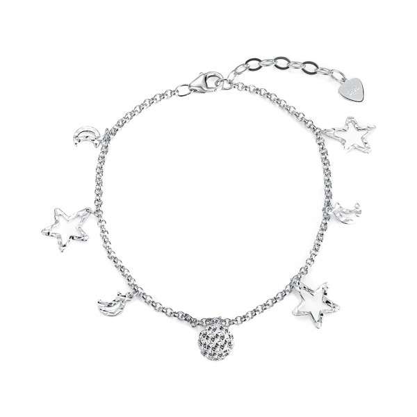 Popular S925 Sterling Silver Inlaid Cubic Zirconia Bracelet