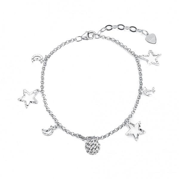 Popular S925 Sterling Silver Inlaid Cubic Zirconia Bracelet