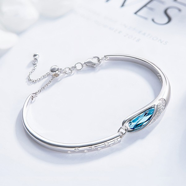 New Arrivals Fashion S925 Sterling Silver Inlaid Crystal Bracelet