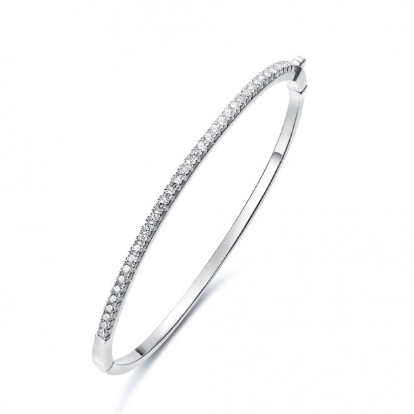 S925 Sterling Silver Inlaid Cubic Zirconia Bracelet Love Gift
