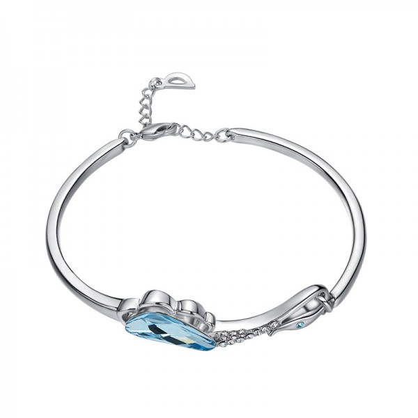 Hot Selling S925 Sterling Silver Inlaid Crystal Bracelet