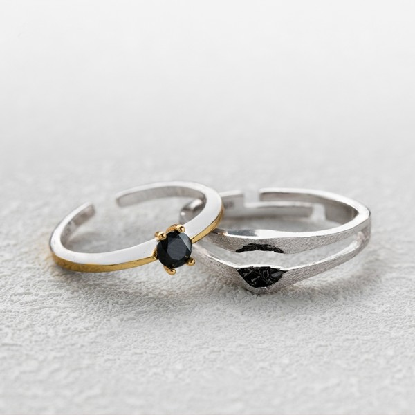 Original Design The Heart of Falling Star Simple Lovers Ring