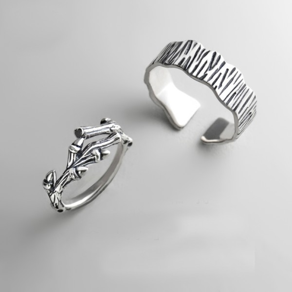 Original Design Tree Branch and Trunk Simple Lovers Ring