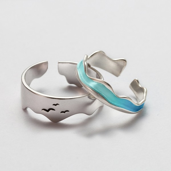 Original Design End of the earth Simple Lovers Ring