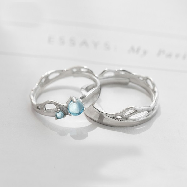Original Design Sea and Foam Lovers Ring