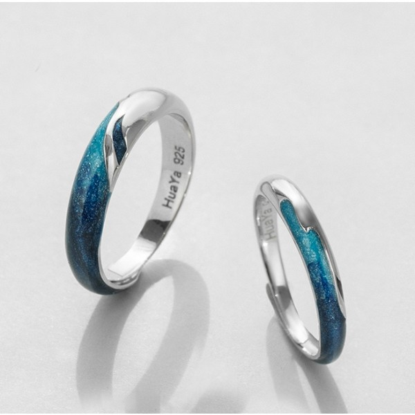 Original Enamel Promise Lovers Ring