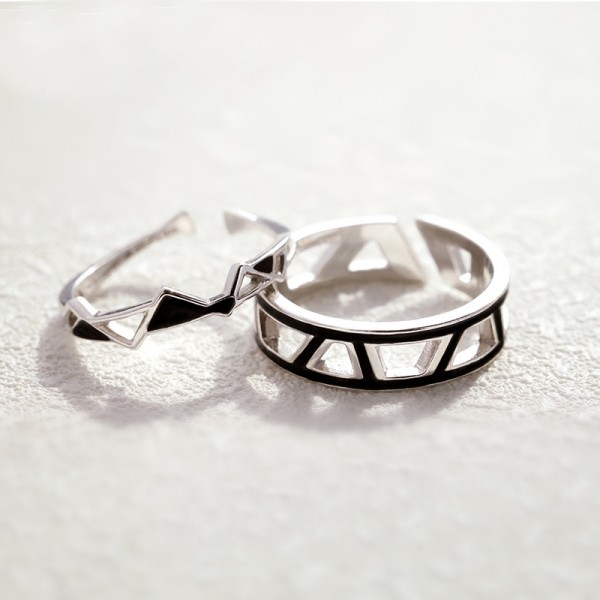 Original Design Edges and Corners Lovers Ring