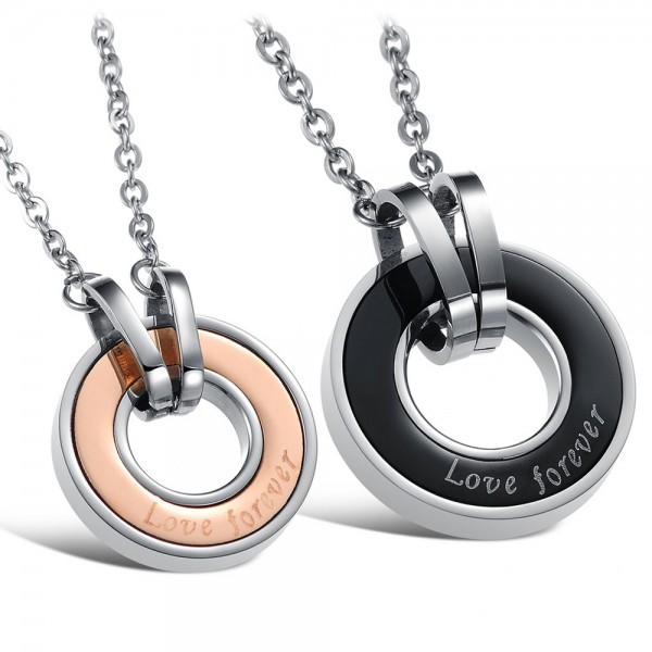 Titanium steel Couples Necklace Lovers Valentine'S Day Gift