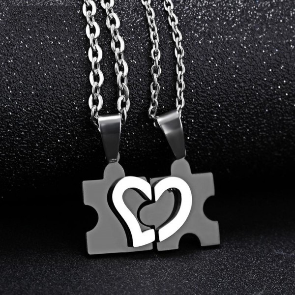 Titanium steel Couples Necklace Character Valentine'S Day Gift
