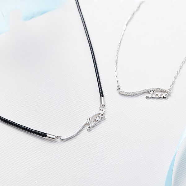 Rhinestone Fashion  925 Silver Ladies Necklace Valentine'S Day Gift