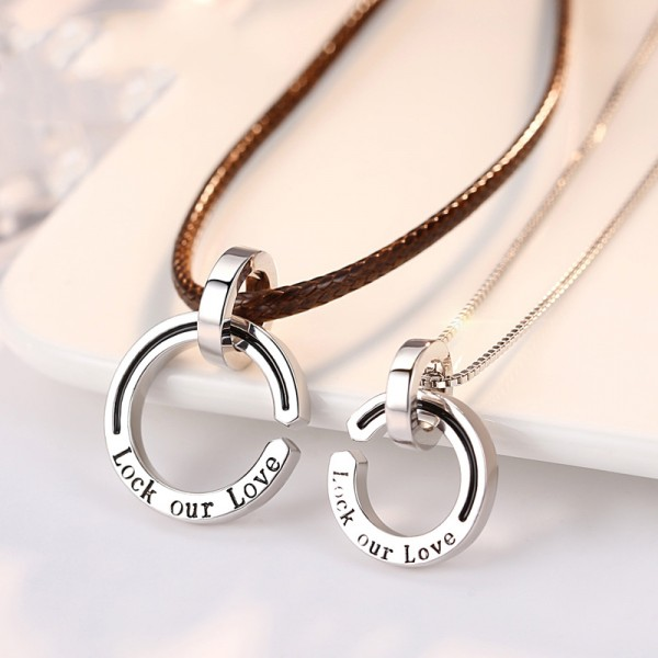 Silver Ladies Necklace Valentine'S Day Gift Trendy Women Necklace