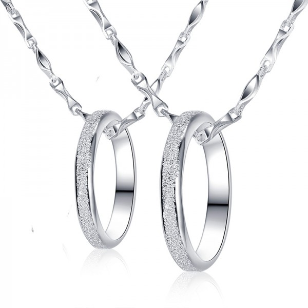 999 Sterling Silver Necklaces For Couples