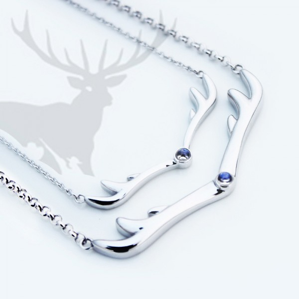 Creative Antlers Engraved Lovers Necklaces For Couple