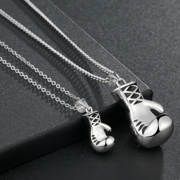 Personality Creative Street Boxing Glove Lovers Pendants Necklaces