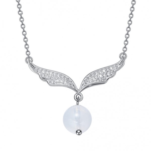 Lovely 925 Silver Rhinestone Ladies' Necklace With Chain