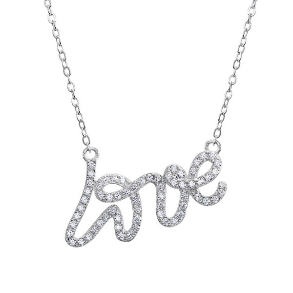 925 Silver Rhinestone Trendy Ladies' Necklace With Chain