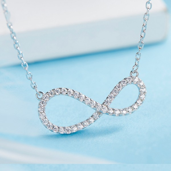 925 Silver Chic Pearl & Rhinestone Ladies' Necklace With Chain