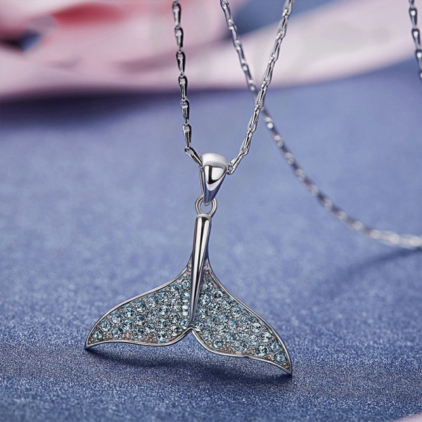 Vogue 925 Silver Rhinestone Ladies' Necklace With Chain